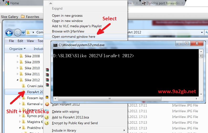 how to find a folder in command prompt